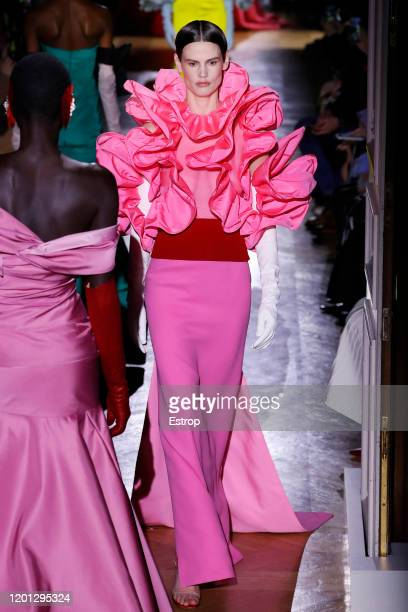 France – January 22: A model walks the runway during the Valentino Haute Couture Spring/Summer 2020 show as part of Paris Fashion Week on January 22...