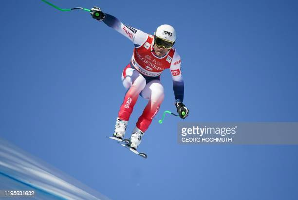 France' Johan Clarey competes in the men's SuperG event at the FIS Alpine Ski World Cup in Kitzbuehel Austria on January 24 2020 / Austria OUT
