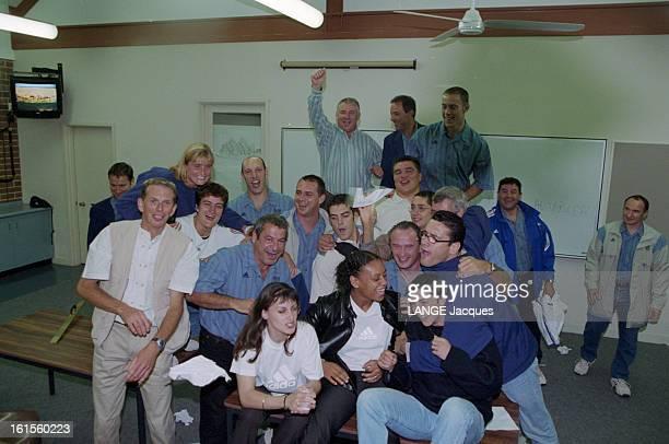 France Judo Team At Their Residence At The Olympics 2000 Sydney Sydney Septembre 2000 Jeux olympiques l'équipe de France de judo en résidence au...