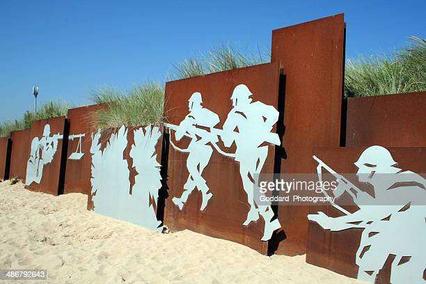 france: juno beach entrance at courseulles-sur-mer - juno beach normandy stock pictures, royalty-free photos & images