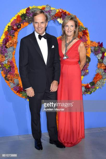 France Kamm and Jean Frederic Dufour attend the opening season gala at Opera Garnier on September 21 2017 in Paris France