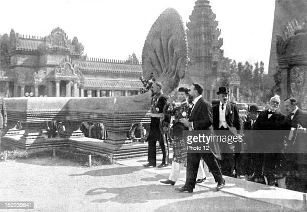 France Khai Dinh emperor of Abbam visiting the colonial exhibition in Marseilles