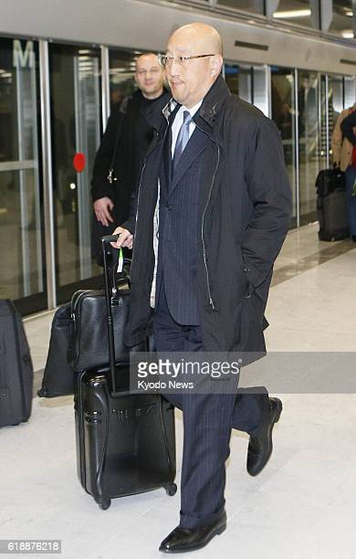 PARIS France Koichi Kawana president of Japanese engineering company JGC Corp arrives in Paris on Jan 19 en route to Algeria to deal with a hostage...