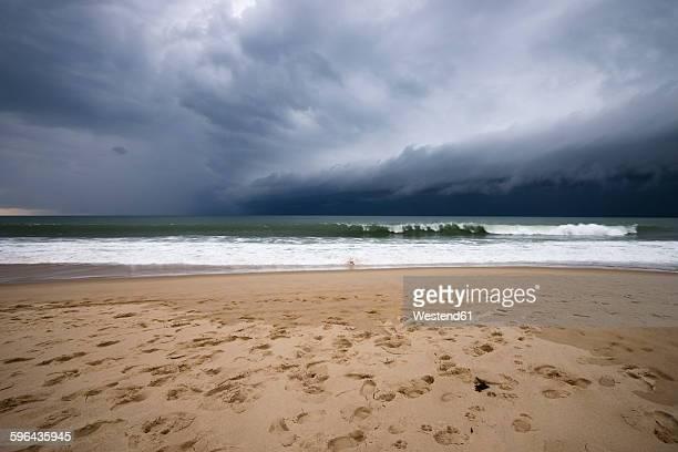 France, Lacanau Ocean, thunderclouds