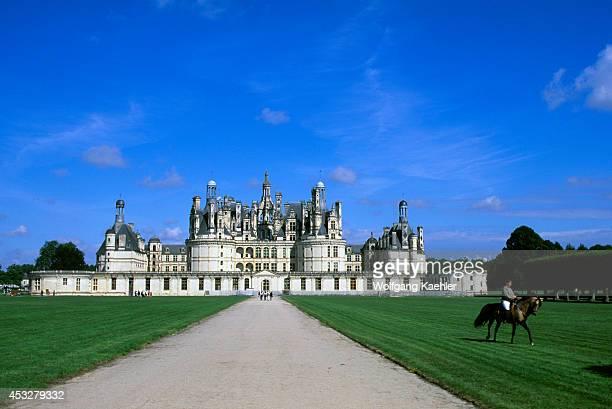 France Loire Region Chambord Chateaux Castle Horseback Rider Dressage