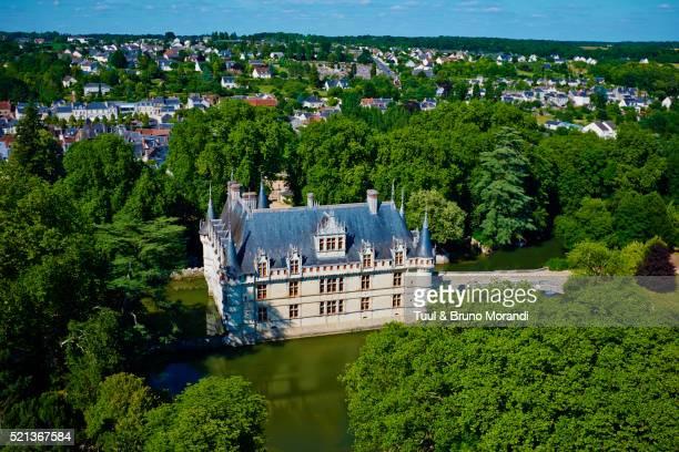 France, Loire valley, Azay le Rideau castle.