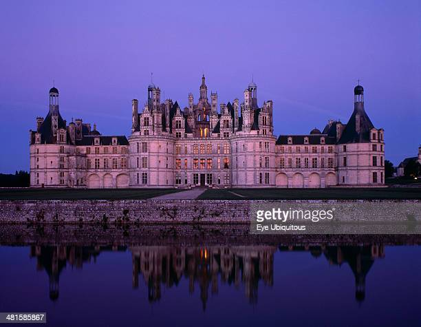France Loire Valley Loire et Cher Chateau Chambord at sunset