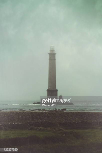 france, lower normandy, phare de la hague at cap de la hague - cotentin photos et images de collection