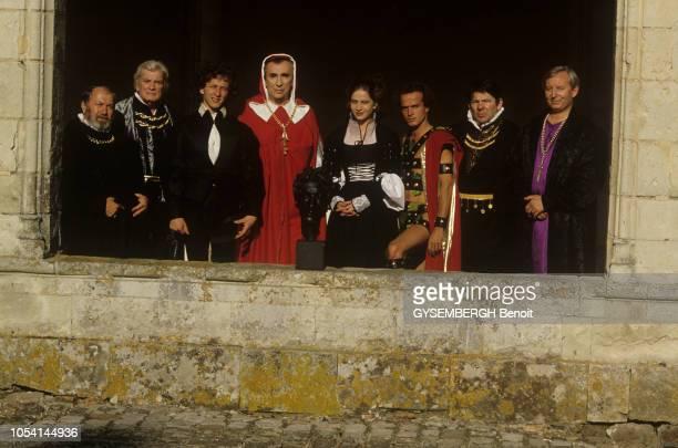 France MaineetLoire Juillet 1987 Rendezvous avec Jean MARAIS à l'occasion du festival d'Anjou Il joue dans 'Bacchus' de Jean Cocteau avec Raymond...