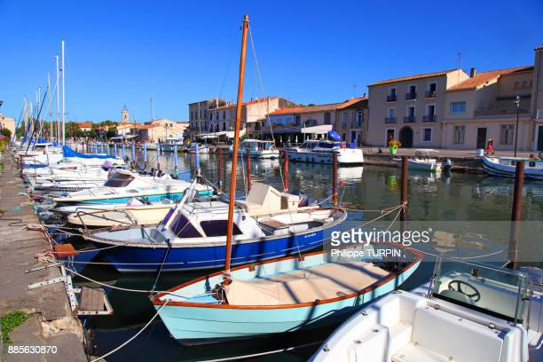 france, marseillan. the harbor. - herault stock pictures, royalty-free photos & images