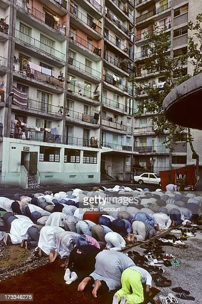 CONTENT] France Marseille Aid Muslim prayer in cite Bellevue Marseille France