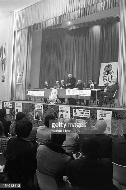 France Marseille February 21 the French politician Gaston DEFFERRE during the election campaign for the planned legislative 4 and March 11 It will...