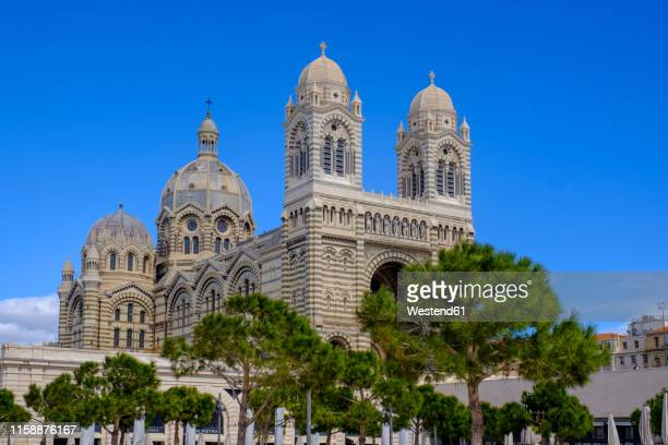 france, marseille, marseille cathedral - marseille stock pictures, royalty-free photos & images