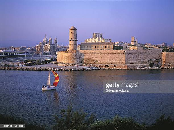 France, Marseille, Old Harbour and Fort Saint jean