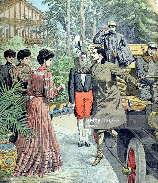 France Meeting of the King of Spain Alfonso XIII and his fiancee Princess Ena in Biarritz In 'Le Petit Journal' 2111906