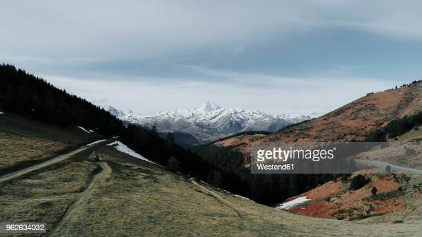France, Midi-Pyrenees, panoramic view of landscape