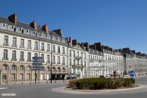 France, Nantes, Ile Feydeau, 18th Century mansions.