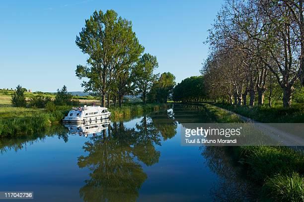 France, navigation on the Canal du Midi