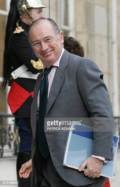 Newly appointed International Monetary Fund managing director Rodrigo Rato arrives at the Elysee Palace for talks with French President Jacques...
