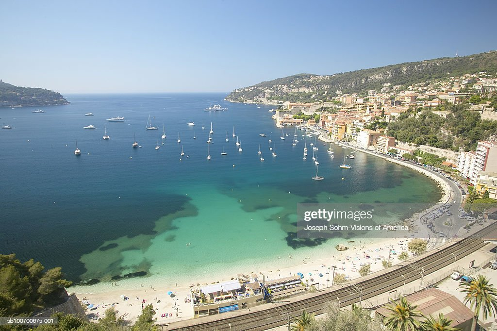 France Nice Miediteranean Sea And Beach Stock Photo