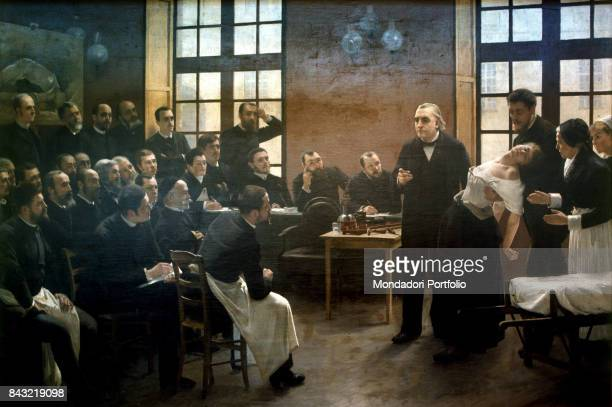 France Nice Museum of Nice Whole artwork view French doctor Jean Martin Charcot beside a fainted woman during a class of medicine