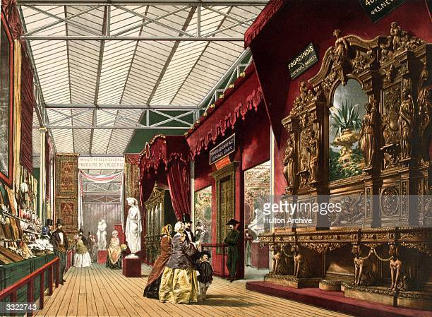 'France No 2' at the Great Exhibition in Crystal Palace the glass and iron building designed by Joseph Paxton at Hyde Park London Original...