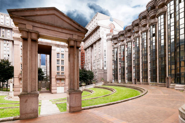 France, Noisy le Grand. Spaces of Abraxas where The Hunger Games Mockingjay movie was shot