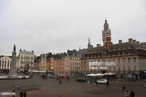 France, Nord-Pas-de-Calais, Lille, Cityscape of Général de Gaulle square