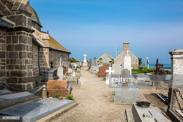 France Normandy Barfleur The Church Cemetery In The Old Country Center