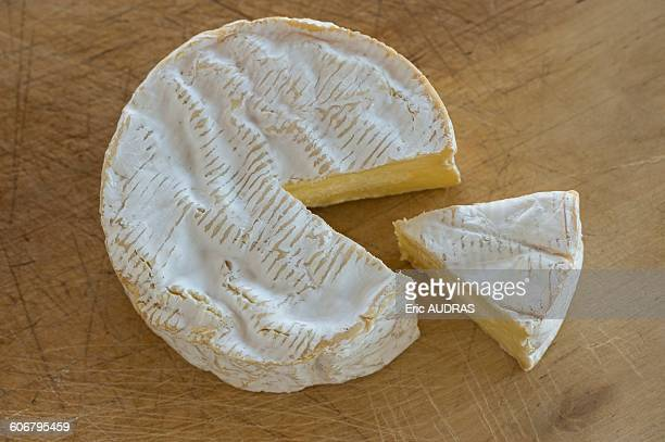 france, normandy, camembert cheese from normandy - camembert stock photos and pictures