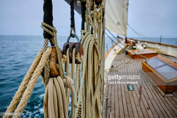 france, normandy, cruise on the sailboat the lys noir - passenger craft stock pictures, royalty-free photos & images