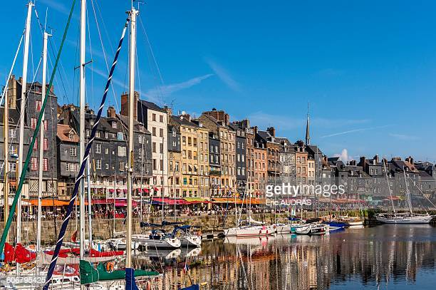 france, normandy, honfleur - calvados stock pictures, royalty-free photos & images