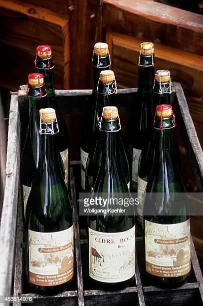 France, Normandy, Honfleur, Street Scene, Apple Cider.