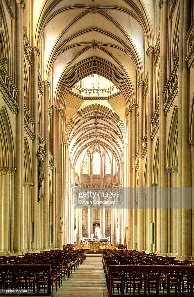 France, Normandy, interior of Evreux Cathedral : ストックフォト