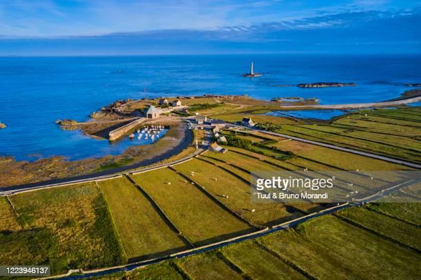 france, normandy, manche department, cotentin, cap de la hague, tip of cotentin and goury lighthouse - the hague stock-fotos und bilder