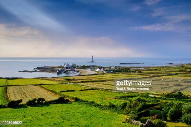 france, normandy, manche department, cotentin, cap de la hague, tip of cotentin and goury lighthouse - cotentin photos et images de collection