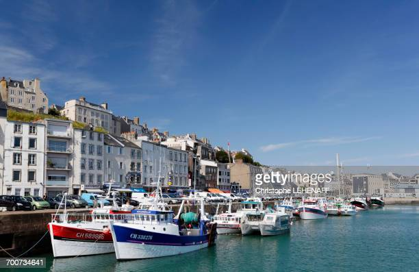 France, Normandy. Manche. Granville. The fishing port.