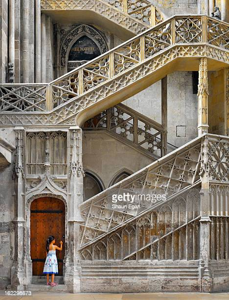 france, normandy, rouen, notre dame cathedral - rouen stock pictures, royalty-free photos & images