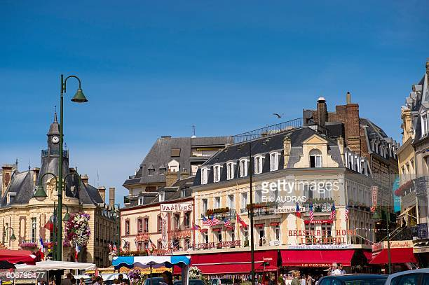 france, normandy, view from the city of trouville - trouville sur mer stock pictures, royalty-free photos & images