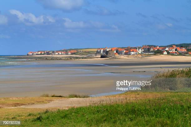 france, north coast. ambleteuse. - hauts de france stock photos and pictures