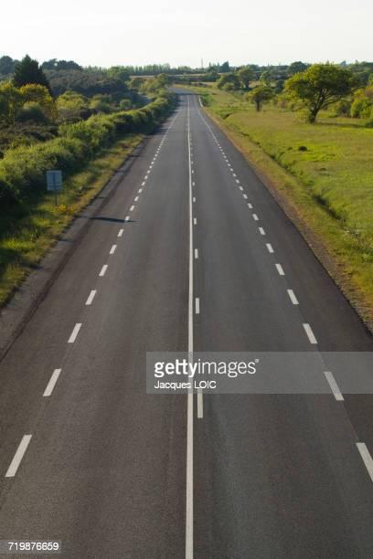 France, North-Western France, Les Moutiers-en-Retz, the blue road (D13)