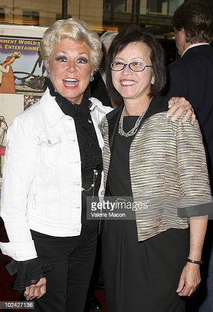 France Nuyen and Candace Lee and Mitzi Gaynor attend AMPAS Screening Of Restored 70mm Print Of South Pacific on June 25 2010 in Beverly Hills...