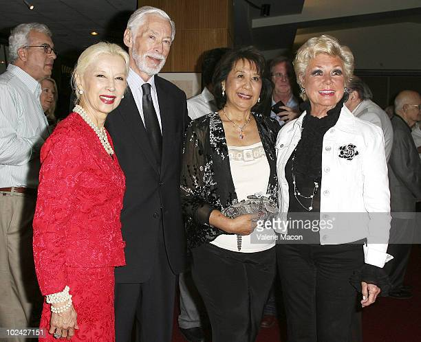 France Nuyen John Kerr guest and Mitzi Gaynor attend AMPAS Screening Of Restored 70mm Print Of South Pacific on June 25 2010 in Beverly Hills...