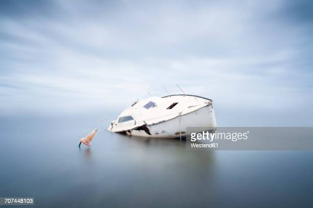 France, Occitanie, Leucate, wrecked ship