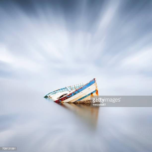 France, Occitanie, Leucate, wrecked ship