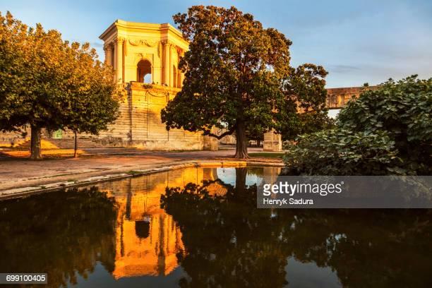 France, Occitanie, Montpellier, Pavillon du Peyrou at sunset