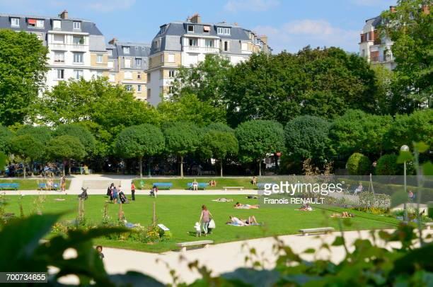 France, Paris, 15th arrondissement, Saint Lambert public garden