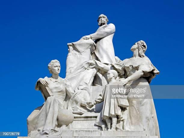 France, Paris. 1st arrondissement. Jardin des Tuileries. Sculpture of Jules Ferry.