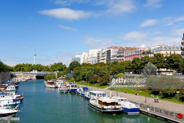 France, Paris, 4th district, Port de lArsenal.