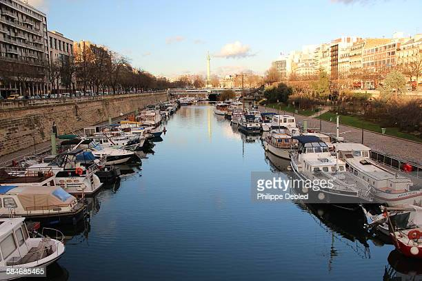 France, Paris, 4th district, St. Martin's canal